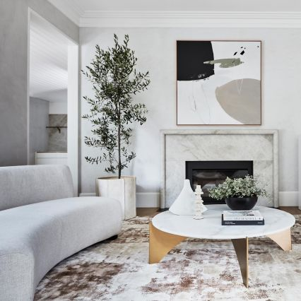 Baleno Marble and Brass Coffee Table