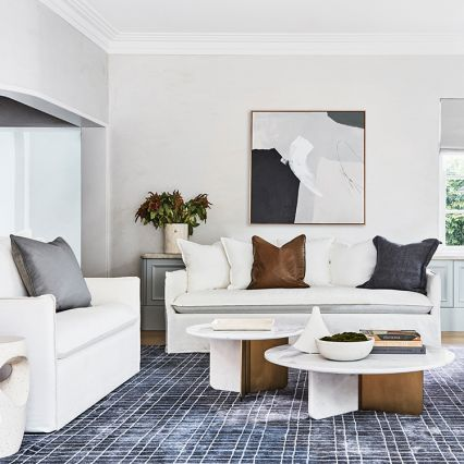 Como Marble and Brass Coffee Table